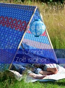 Anleitung Tutorial Zelt bauen nähen
