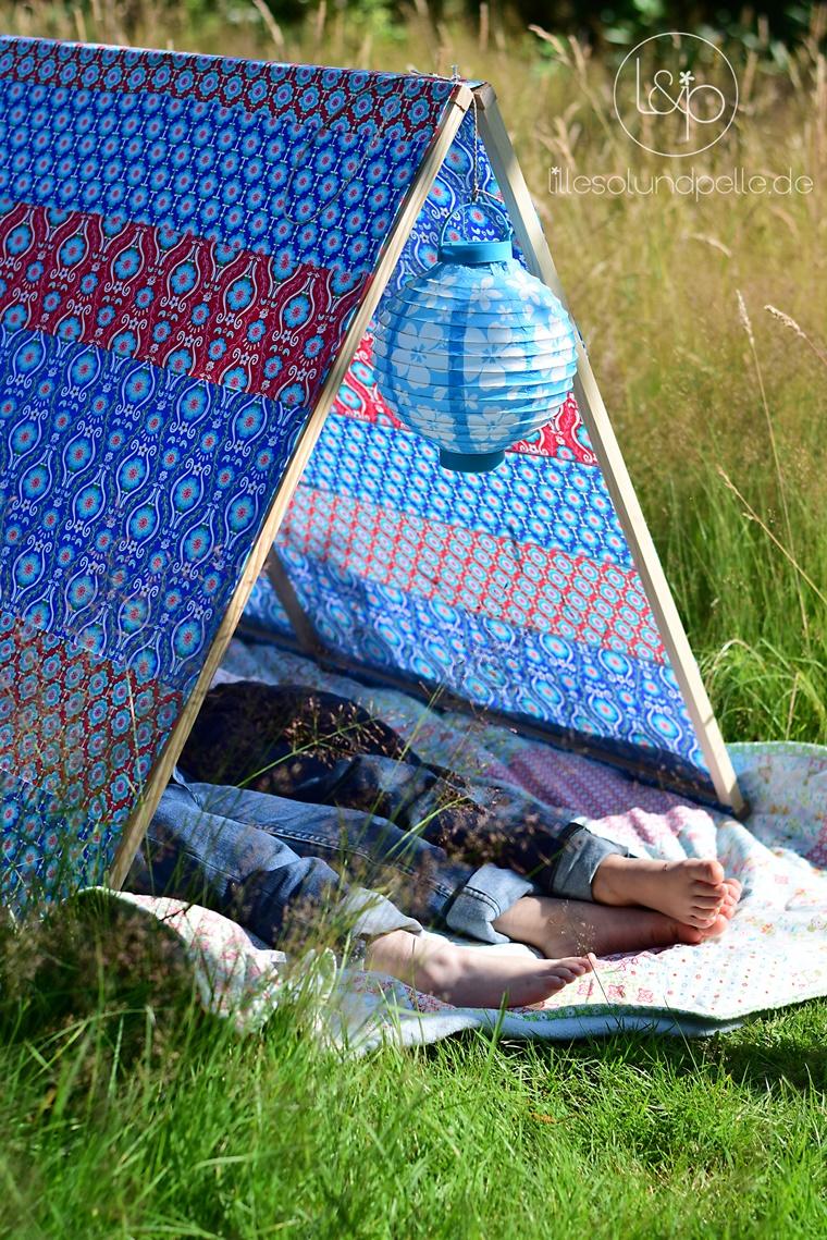 Ein Zelt genäht aus Jolijou Poppy Go Lucky | lillesol & pelle ...