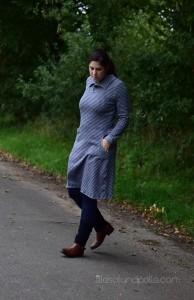 Schnittmuster Winterkleid mit Kragen lillesol und pelle women