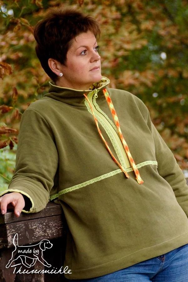 Schnittmuster Ebook lillesol women Fleece-Pulli nähen