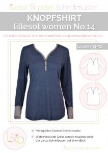 Ebook Schnittmuster Knopfshirt lillesol women Shirt mit Knopfleiste