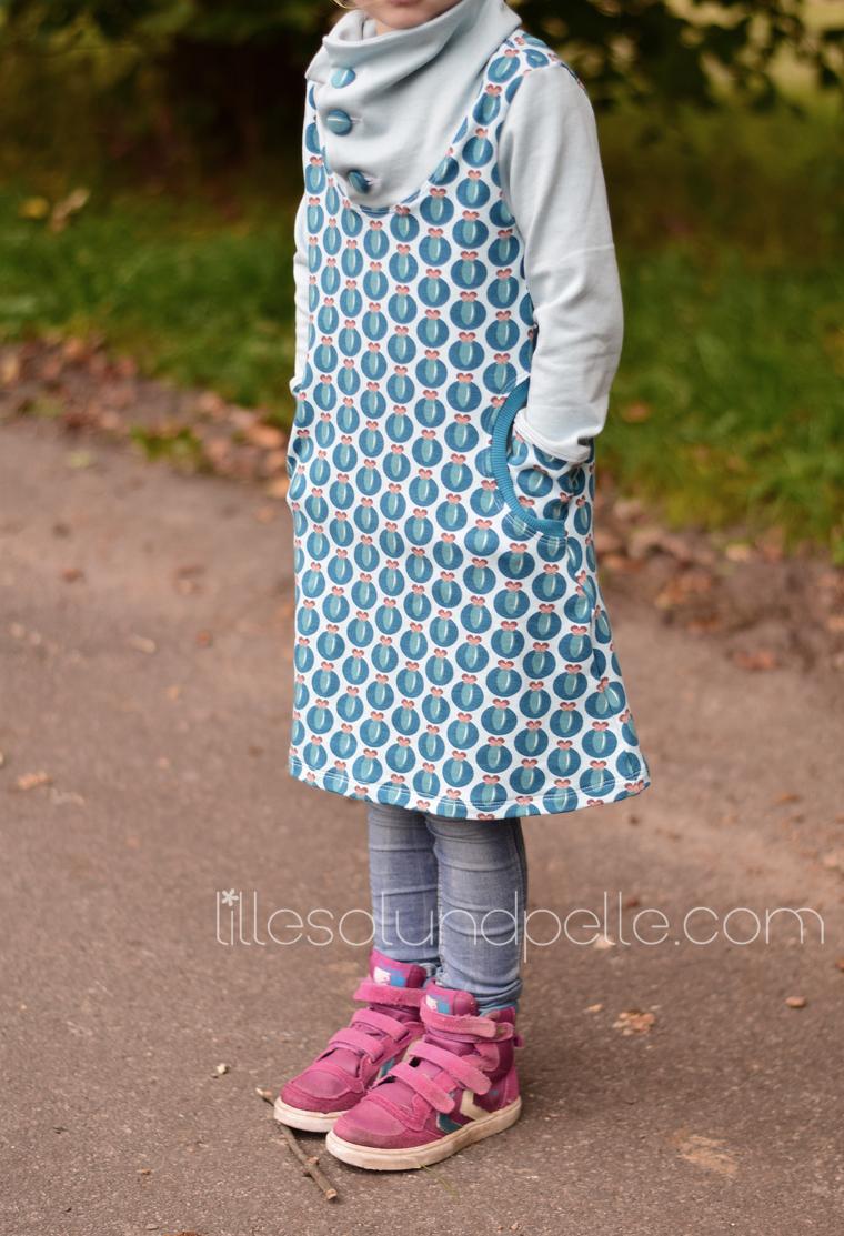 Ebook Schnittmuster Winterkleid Mädchen Damen nähen Winterkombi KLeid mit Kragen