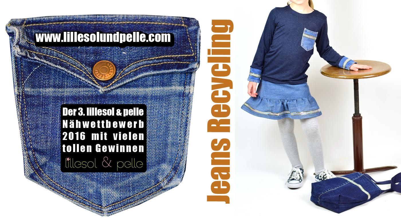 lillesol und pelle Nähwettbewerb Jeans Recycling