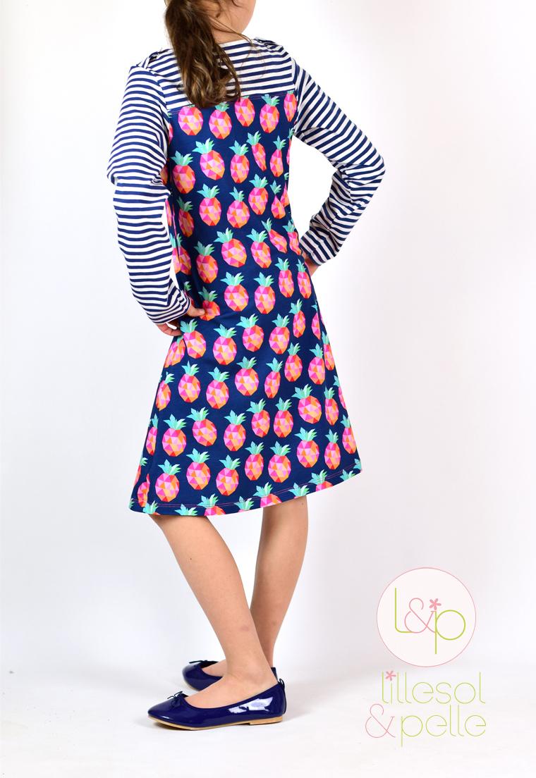 Schnittmuster Ebook zum Nähen einer Frühlingskombi als Kleid oder Shirt mit Passe und Uboot Ausschnitt zum Knöpfen Hamburger Liebe Pineapplelada Alles für Selbermacher
