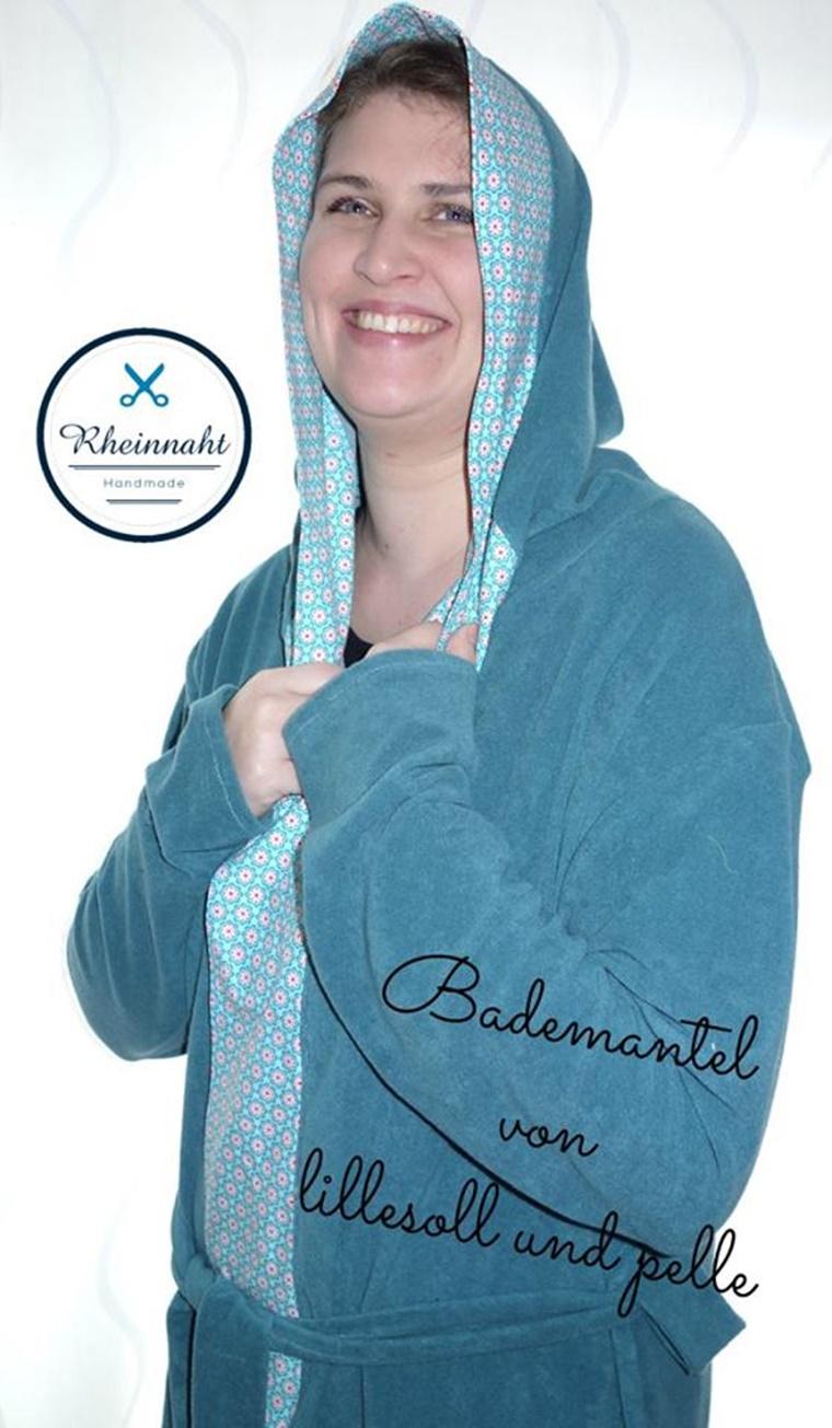 Schnittmuster Ebook nähen Bademantel lillesol women Damen und Kinder