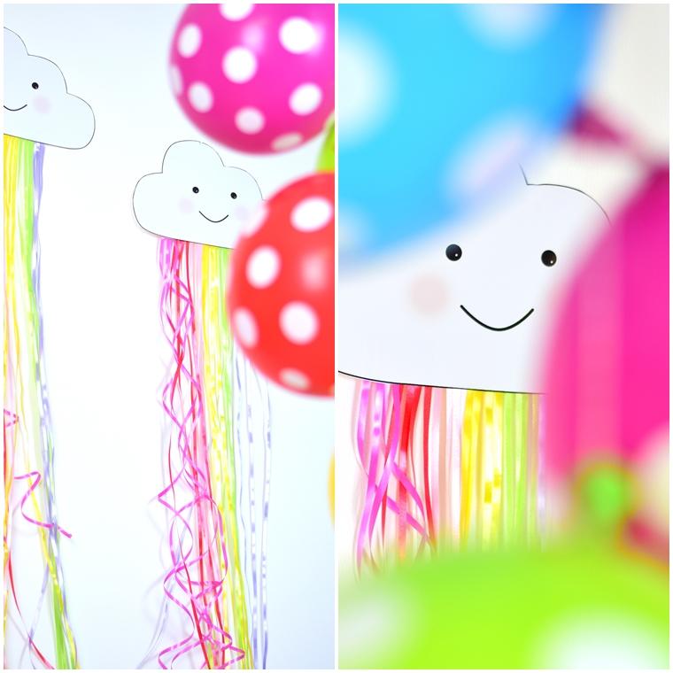 Regenbogengeburtstag Regenbogenparty Geburtstagsidee Freebie Wolke Download
