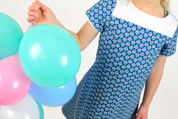 Schnittmuster Ebook Kleid mit Passe Frühlingskombi Jolijou Swafing  Bloomstar Periwinkle