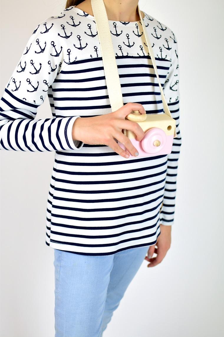 Schnittmuster Ebook nähen Frühlingsshirt Shirt mit Passe