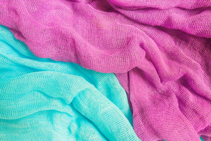 Multicolored gauze fabric for festive template background