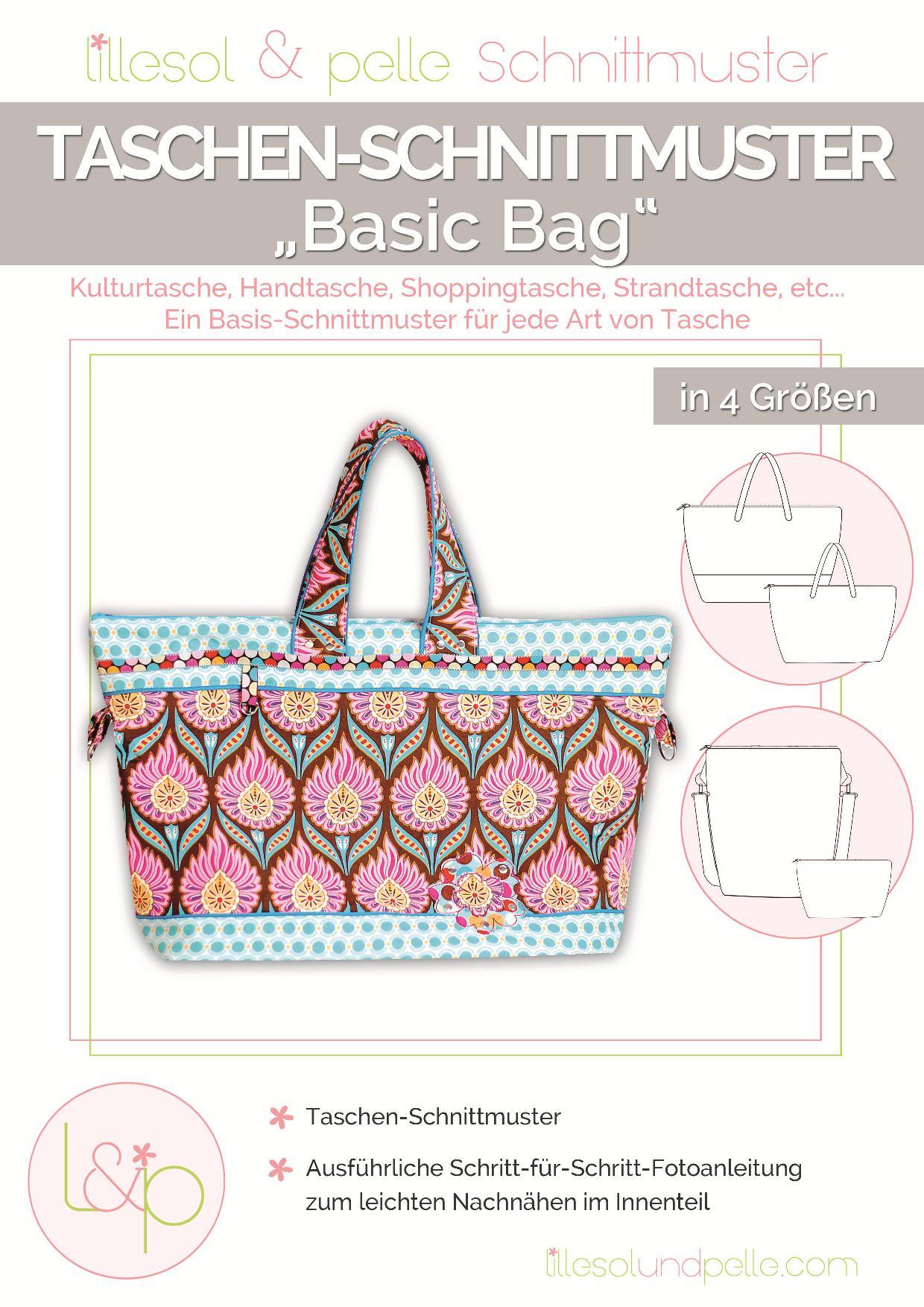 Papierschnitt Anleitung Basic Bag-001
