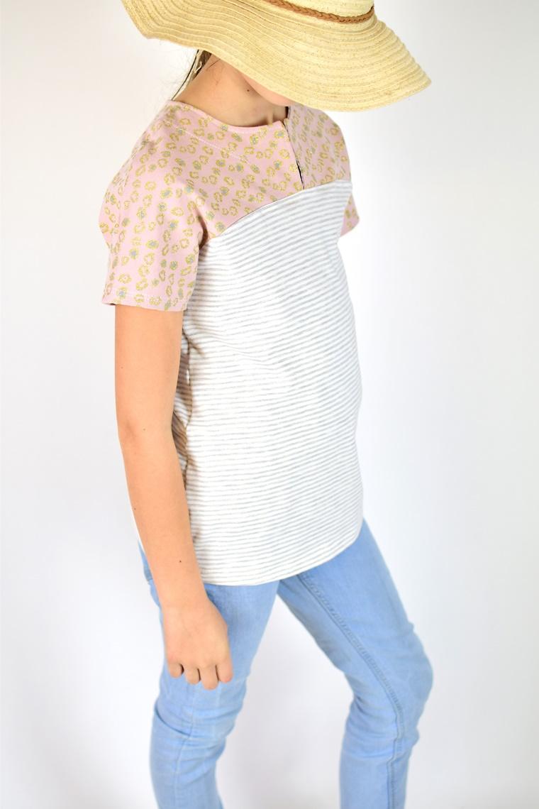 Schnittmuster Ebook Shirt mit Passe Frühlingsshirt Stoff & Stil nähen Kinder Damen