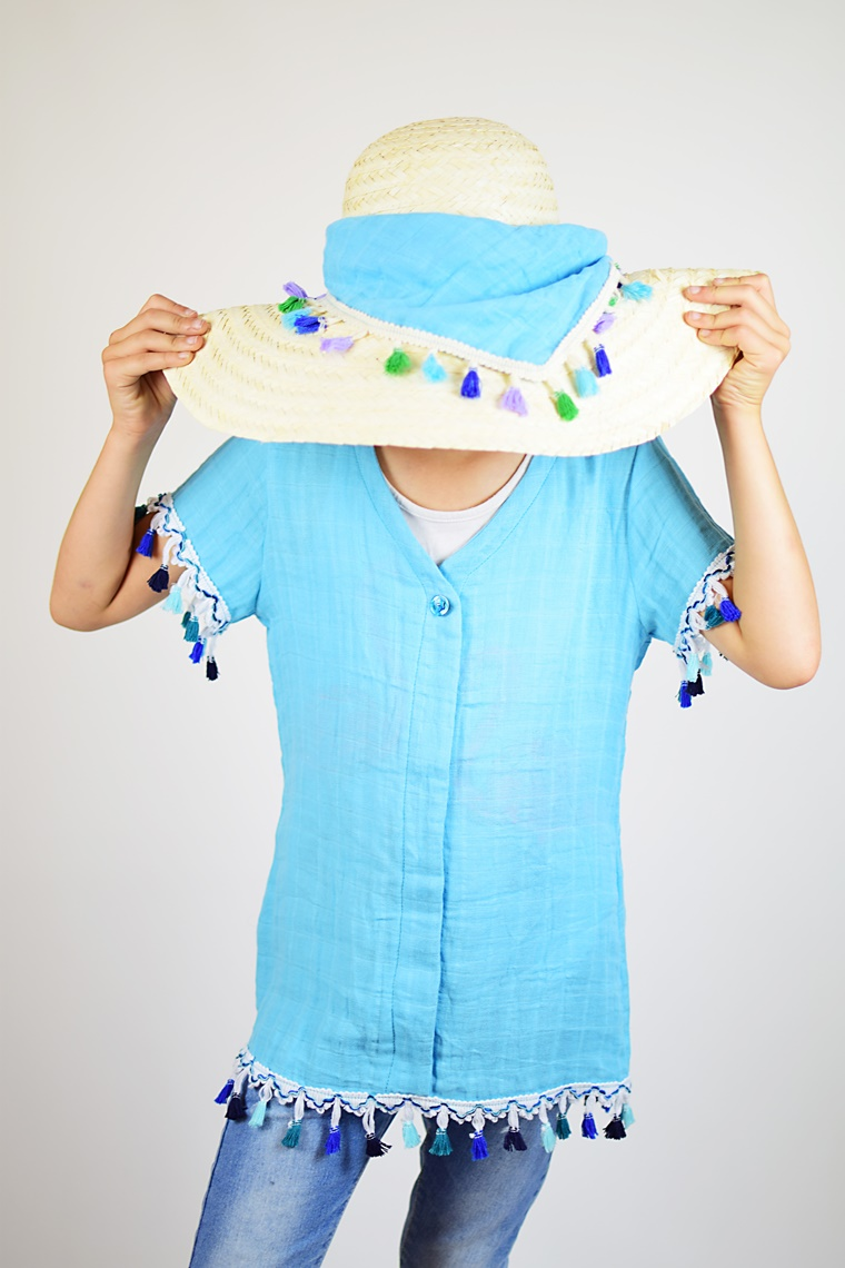 Schnittmuster Ebook nähen Bluse Musselin Kinder Damen