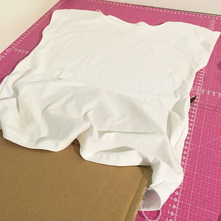 Tutorial Anleitung Textilsprühfarbe Fashion Spray Marabu Tshirt bemalen bedrucken