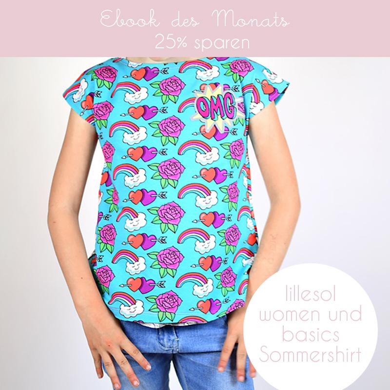 Schnittmuster nähen Sommershirt Hamburger Liebe OMG Shirt lillesol pelle Papierschnittmuster Ebook