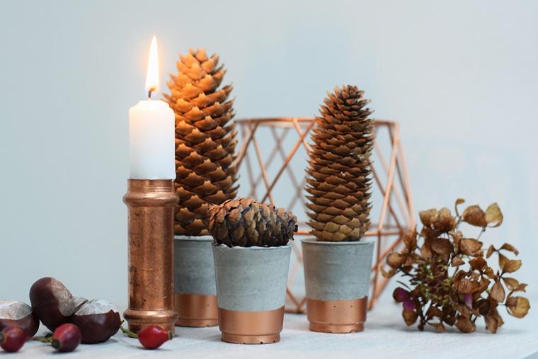diy beton tannenb umchen weihnachten herbst deko. Black Bedroom Furniture Sets. Home Design Ideas