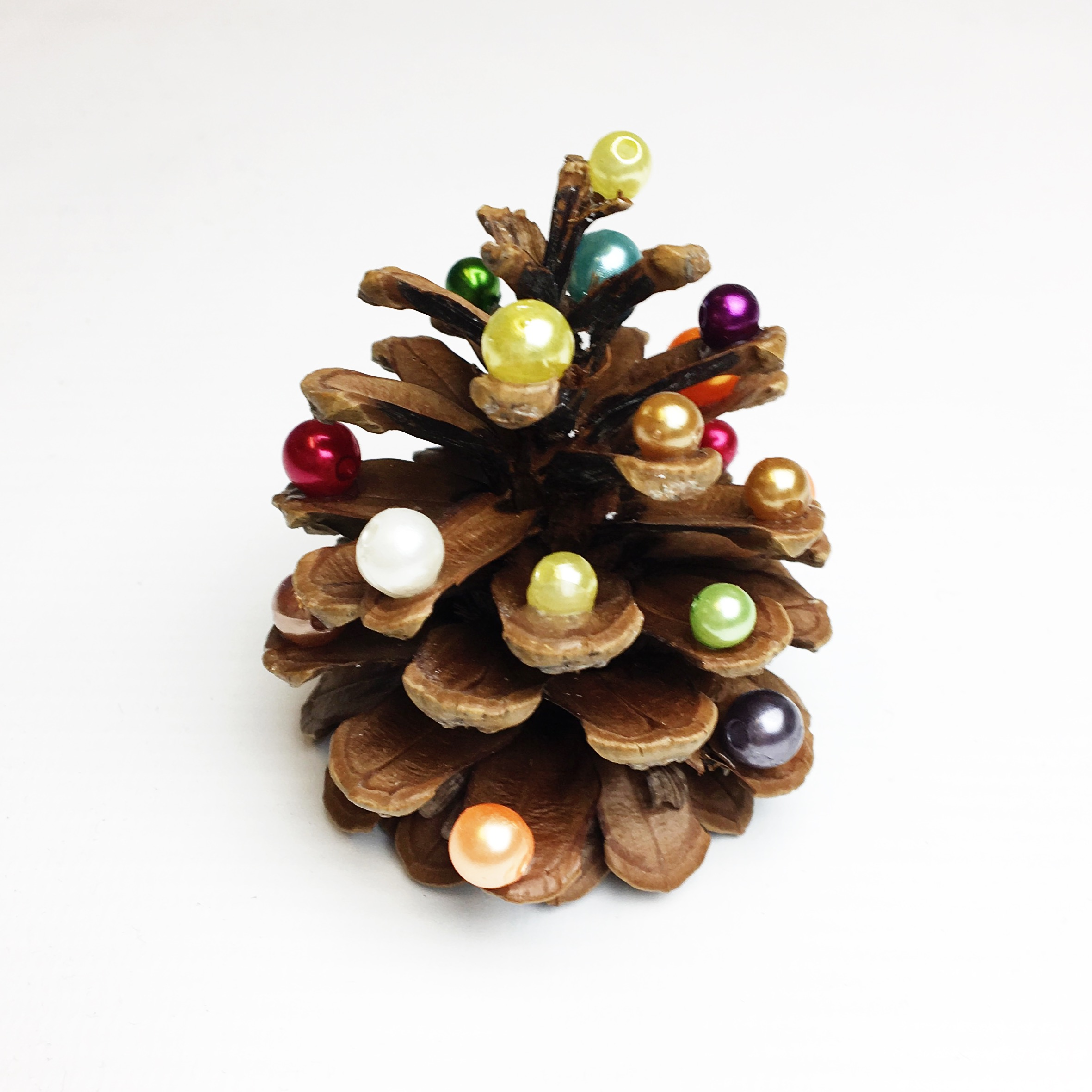 Weihnachten Deko Tannenzapfen Basteln mit Kindern Weihnachtsidee