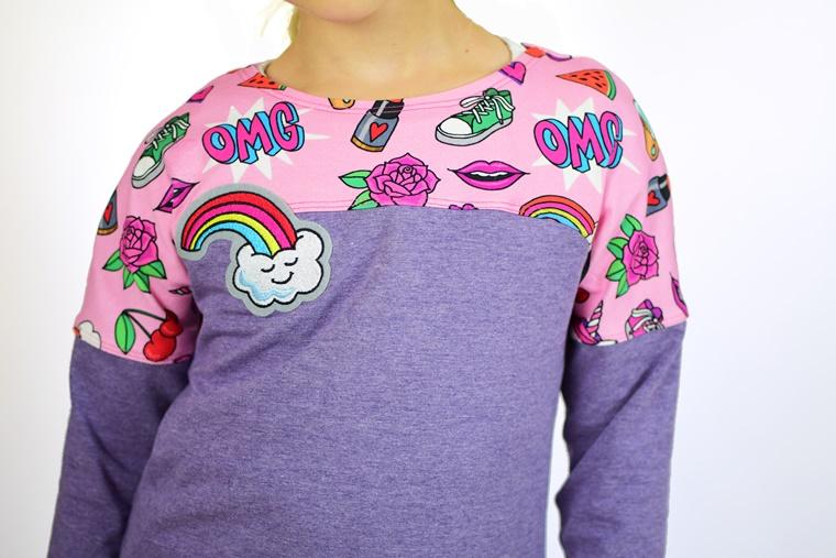 Schnittmuster nähen Ebook Frühlingsshirt Shirt mit  überschnittenen Ärmeln Hamburger Liebe OMG Sweet