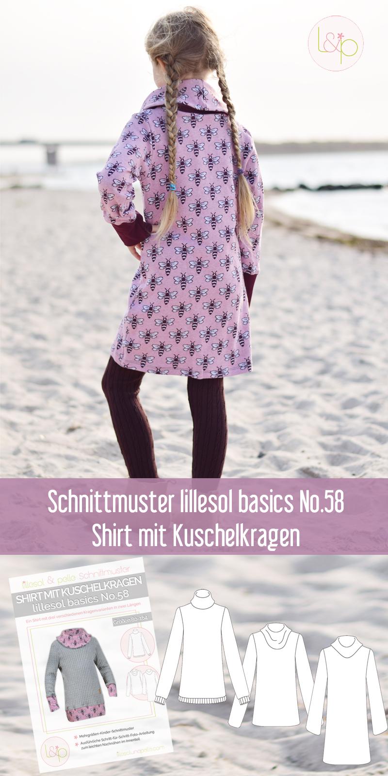 Schnittmuster nähen Kleid Rollkragen Schalkragen Jacquard Pattern Love Hamburger Liebe / sewing pattern turtleneck dress