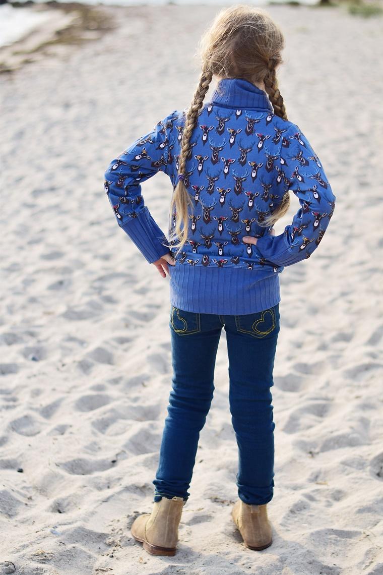 Schnittmuster SShirt mit Kuschelkragen Rollkragen Lila Lotta Forrest