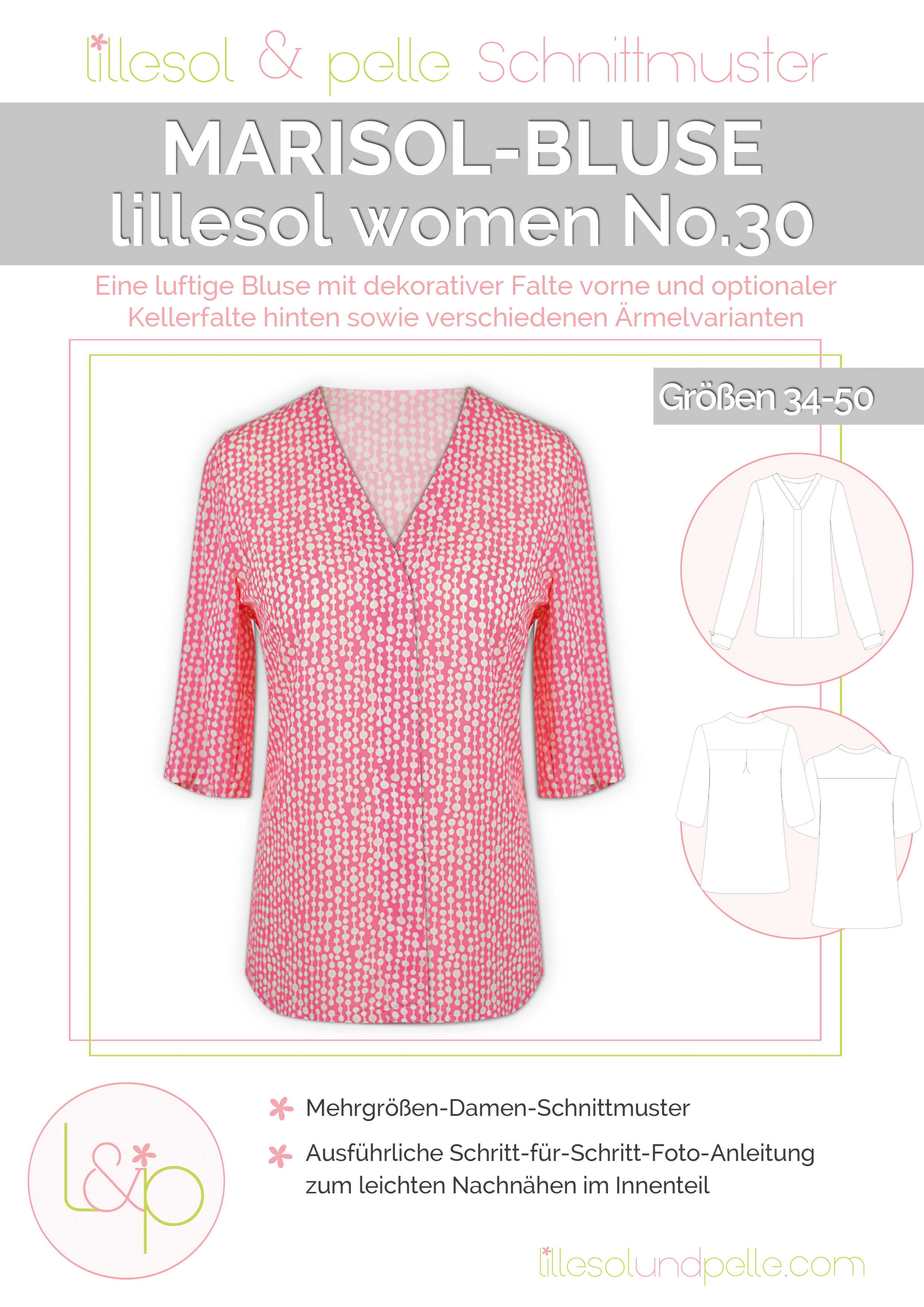 Neues Schnittmuster: lillesol Marisol-Bluse | lillesol & pelle ...