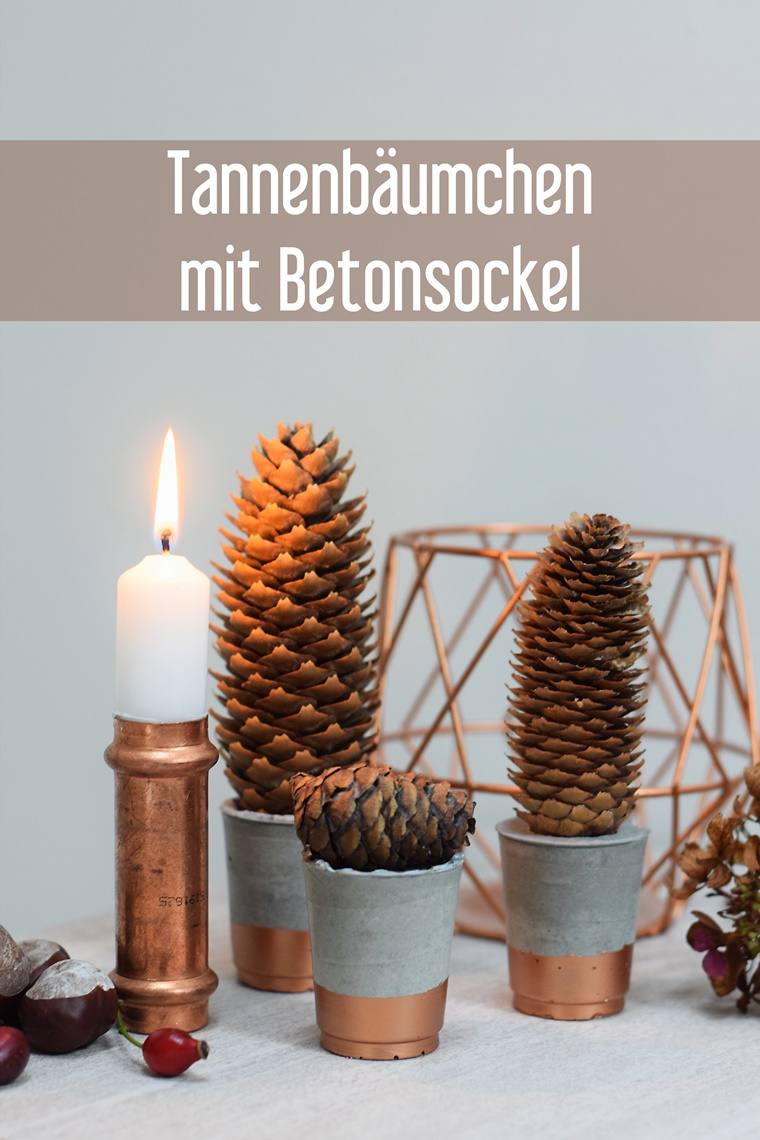 diy beton tannenb umchen weihnachten herbst deko. Black Bedroom Furniture Sets. Home Design Ideas